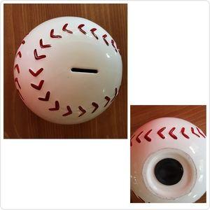 Baseball Shaped Ceramic Bank